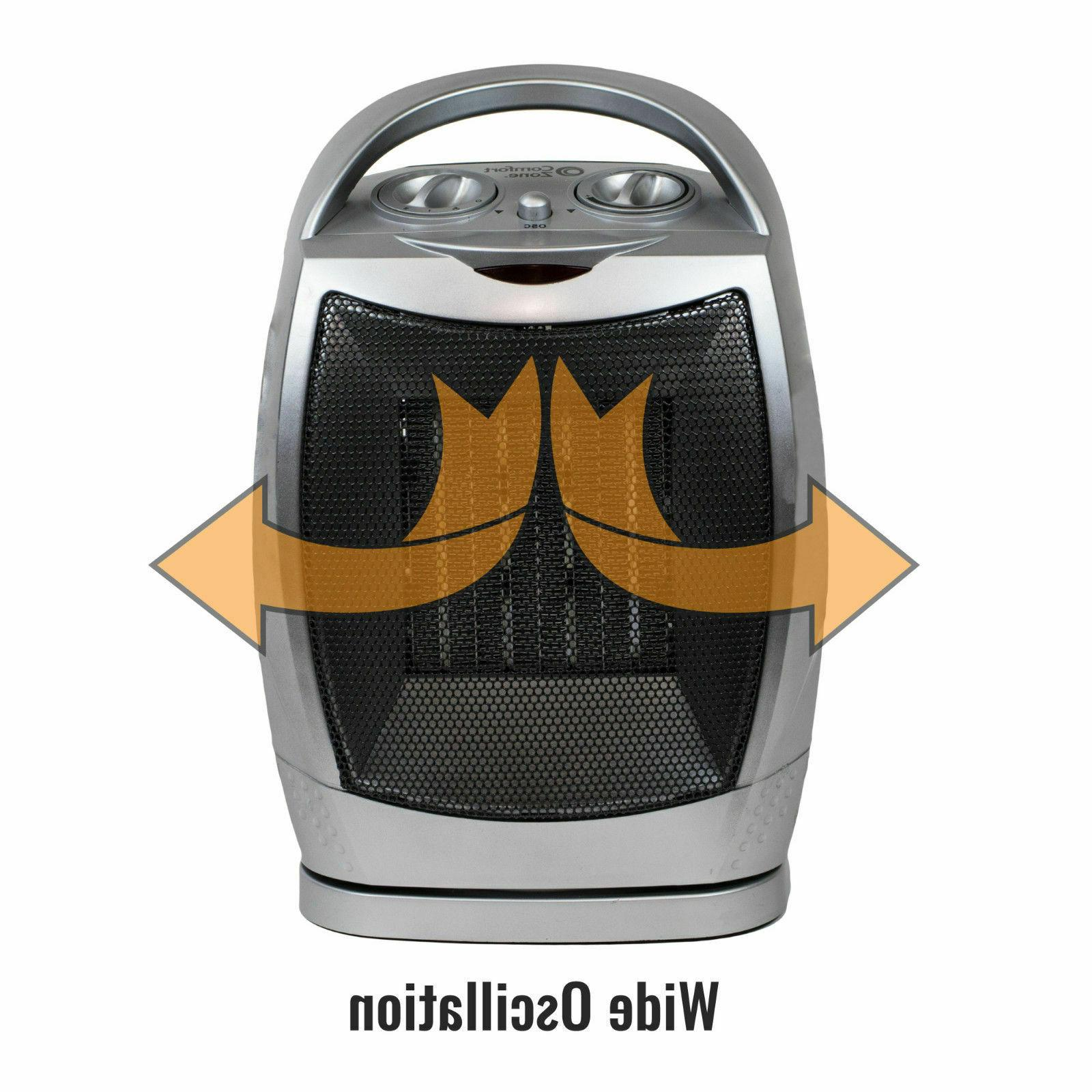 Oscillating Ceramic Fan Home Adjustable
