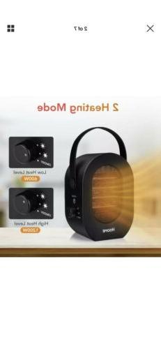 Hisome Portable Space Heater, 1200W/600W Indoor Heaters Fan,
