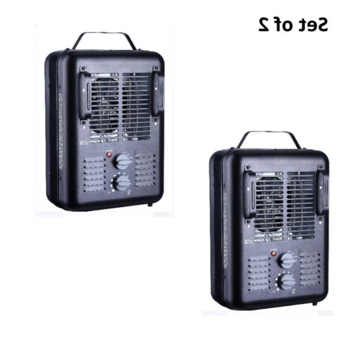 set of 2 portable electric space heater