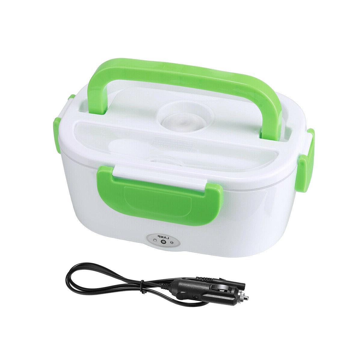 Portable Electric Heated Car Plug Heating Lunch Box Bento Tr
