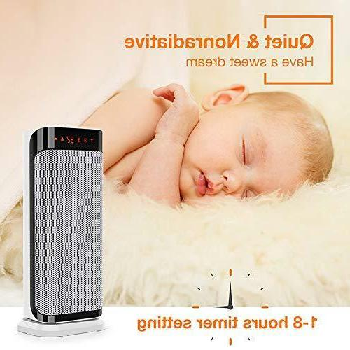 Air Ceramic Space Heater with Modes WHITE