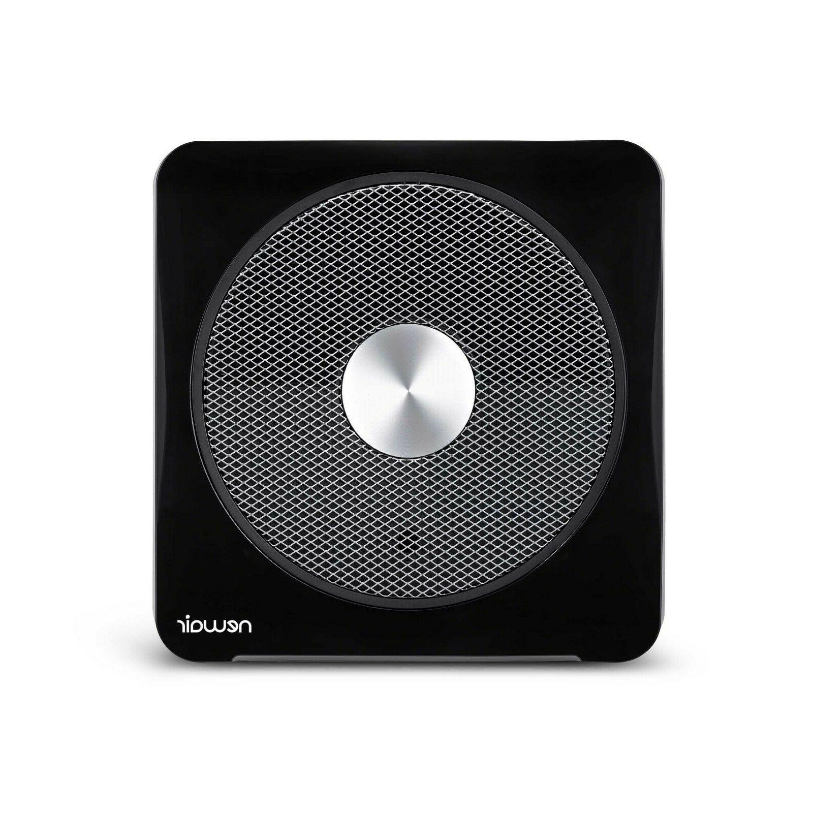 whole room whisper quiet space heater black