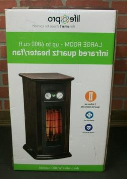Life Pro Large Room Infrared Quartz Tower Space Heater with