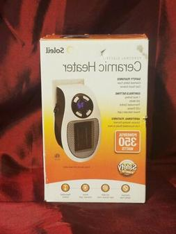 Soleil MH-04W 350 Watts Ceramic Portable Space Heater - Whit