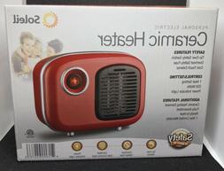 Soleil MH-04W 250 Watts Ceramic Portable Space Heater - Red