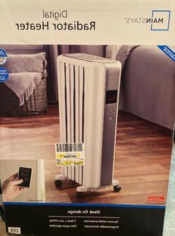 NEW Mainstays Digital Radiator Heater White NY1506-18SRA Spa