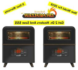 New Dr. Infrared 1500W Portable Space Heaters  With Dual Hyb