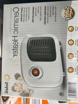 NEW Soleil White Personal Indoor Ceramic 250W Small Space Mi
