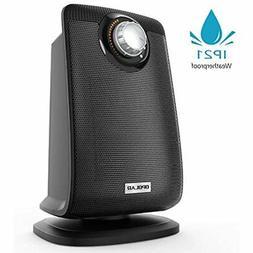 Oscillating Bathroom Space Heater IP21 Waterproof, 1500W Por