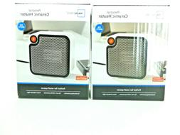 Mainstays Personal Ceramic Space Heater 250 W - White - 2 Pi
