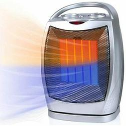 Brightown Portable Ceramic Space Heater 1500W/750W, 2 In Osc