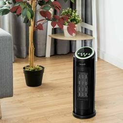 Portable Ceramic Space Heater LED Oscillating Room Bedroom H
