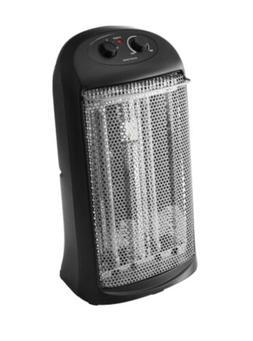 Mainstays Quartz Electric Tower Space Heater, Indoor, BLACK,