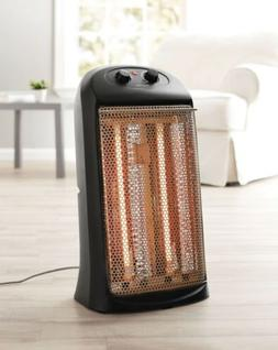 Mainstays Quartz Electric Tower Space Heater, Indoor, Black,