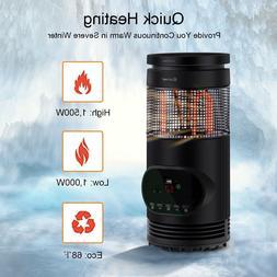 Quiet Portable Electric Infrared Quartz Indoor Space Heater