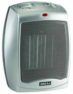 Lasko Electric Ceramic 1500W Heater, Silver/Black, 754200