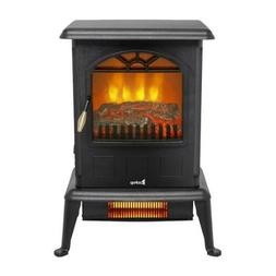 "22"" Free Standing Electric Fireplace Space Heater Fire Flame"